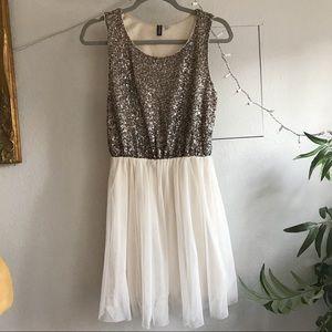 H&M Sequin Tulle Dress